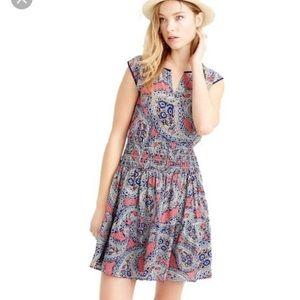 8aeddb2cc9018 Crew Silk smocked waist dress in paisley 2
